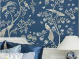Diy Wall Mural Stencils Birds and Roses Chinoiserie Wall Mural Stencil Diy asian