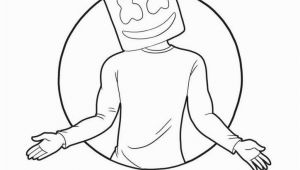 Dj Marshmello Coloring Pages How to Draw Marshmello Super Easy