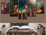 Doctor who Wall Mural 5 Pieces Doctor who Movie Characters Home Decor Painting Poster for