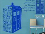 Doctor who Wall Mural Tardis Doctor who Style Wall Sticker Kids Room Baby Nursery Tv Wall