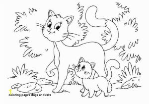 Dog and Cat Coloring Pages Printable Coloring Pages Dogs and Cats Cat Coloring Pages Printable New