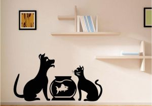 Dog Murals for Wall Diy Funny Cute Cat Dog Animls Wall Stickers Home Decals Bedroom Kids