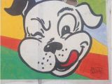 Dog Murals for Wall Hats On A Dog Mural Hatsonthings Murals