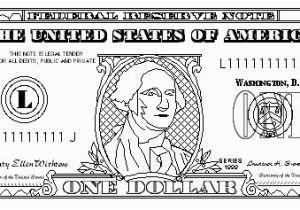 Dollar Bill Coloring Page Printable Dollar Bill Coloring Page Printable Elegant $100 Bill Coloring Page