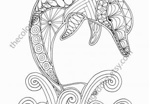 Dolphin Coloring Pages for Kids Dolphin Coloring Page Adult Coloring Sheet Nautical Coloring