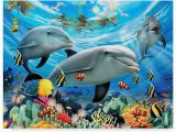 Dolphin Paradise Wall Mural Howard Robinson Two Dolphins Canvas Art 24 X 18 X 2 In