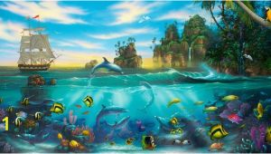 Dolphin Paradise Wall Mural Paradise Found Mural David Miller Murals Your Way