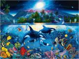 Dolphin Paradise Wall Mural Puzzle Majestic Kingdom 6000 Piezas Clementoni