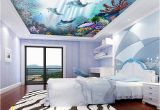 Dolphin Wall Murals for Bedrooms Colored Corals Dolphins In 2019 House