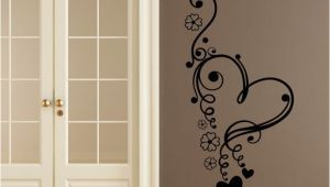 Door Murals Ebay Floral Love Heart Flowers Wall Art Sticker Wall Decal Transfers