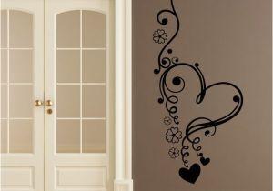 Door Murals Ebay Floral Love Heart Flowers Wall Art Sticker Wall Decal Transfers