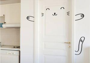 Door Murals Ebay Sleepy Bunny Door Decal Wall Stickers for Kids Girl Cat Door Wall