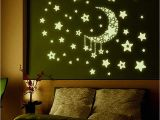 Door Murals Ebay Wall Stickers Home Decor Stars Moon Night Sky Noctilucence Glow In