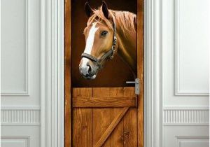 Door Size Murals Pulaton Door Mural Sticker Horse Stall Decole Cover Cling Poster