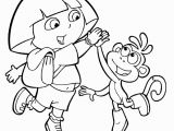 Dora and Boots Coloring Pages Free Printable Dora the Explorer Coloring Pages for Kids