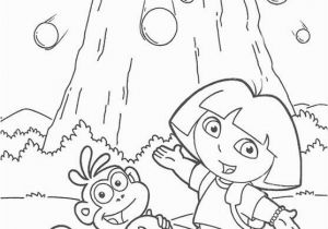 Dora and Boots Coloring Pages to Print Dora and Boots are Near Mount Coloring Pages Dora the Explorer