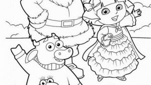 Dora the Explorer Coloring Pages Pdf Dora Explorer Winter Coloring Pages