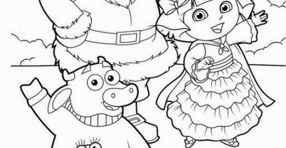 Dora the Explorer Coloring Pages Pdf Dora Explorer Winter Coloring Pages