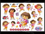 Dora the Explorer Wall Mural Dora the Explorer with Flowers Wall Stickers for Kids Room