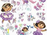 Dora the Explorer Wall Mural Roommates Dora S Enchanted forest Adventures Peel and Stick Wall Decals