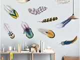 Dorm Room Wall Murals Amazon the Creative Student Dormitory Feather Wallpaper