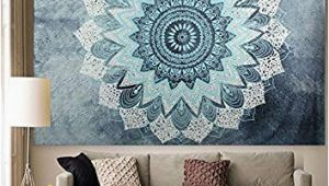"Dorm Room Wall Murals Apher India Bohemian Mandala Tapestry Wall Hangings Bedspread Blanket Beach towel Wall Art for Living Room Bedroom Dorm Decor 60"" X 80"""
