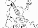 Double Bass Coloring Page Music Coloring Pages for Kids Printable Coloring Book Pages