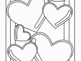 Double Heart Coloring Pages Valentine S Day to Color
