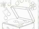 Dove Cameron Coloring Pages Record Player Coloring Page My Coloring Pages