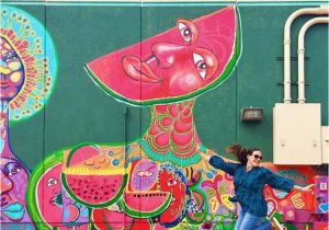Downtown Houston Mural Wall Pin by Dessert for Brunch On Htx