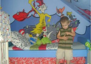 Dr Seuss Wall Mural Dr Seussery We Used Ikea Furniture and Lots Of Seuss Murals I