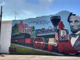 Dr who Mural Lincoln Funeral Train Cambridge City Indiana Murals