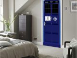 Dr who Tardis Wall Mural Marki New Doctor who Wall Decal Blue Tardis Fathead Style Door Wall Sticker Graphic Unique Mural Cosplay Gifts Wn642a Full Wall Mural Decals Full Wall