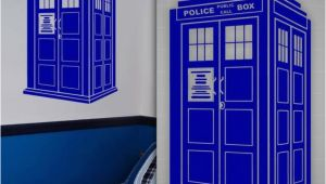 "Dr who Tardis Wall Mural Tardis Wall Decal Doctor who Style Sticker Kids Room Wall Decor 36"" X 22"""