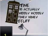 Dr who Tardis Wall Mural Wall Decal Doctor who Tardis Quote Time Travels Mural Sticker Decor Art Police Box Gift Dorm Bedroom M1626