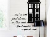 Dr who Wall Mural Tardis Doctor who Style Wall Sticker Kids Room Baby Nursery Tv Wall