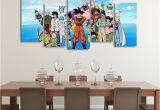 Dragon Ball Wall Mural Dbs Happy Family asymmetrical 5pcs Wall Art Canvas