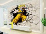 Dragon Ball Z Wall Mural Dragon Ball Fototapete 3d Anime Wandbild Benutzerdefinierte Cartoon Wallpaper Jungen Kinder Schlafzimmer Wohnzimmer Große Wand Kunst Room Decor Flur