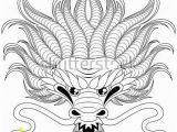 Dragon Head Coloring Pages Head Of Chinese Dragon In Zentangle Style for Tatoo Adult