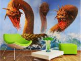 Dragon Wall Murals Large Beibehang Tapety Hd 3d Wallpaper Stereo 3 Dragon Head Snake
