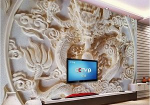 Dragon Wall Murals Large Custom 3d Wall Murals Wallpaper Chinese Style Dragon Relief