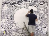 Drawing Murals On Wall Mural Painting for Tct Agency On Behance