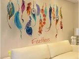Dream Catcher Wall Mural Iuhan Fashion Classic Creative Dream Catcher Feather Wall Sticker Art Decal Mural