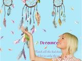 Dream Catcher Wall Mural Us $3 56 2018 Wall Stickers Lucky Dream Catcher Feathers Wall Sticker Decal Mural Art Vinyl Decals Home Decor Fashion Diy In Wall Stickers From Home