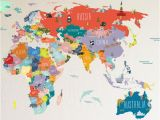 Dry Erase World Map Wall Mural Wall Decal World Map Interactive Map Wall Sticker Room Decor Map