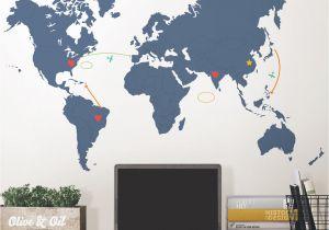Dry Erase World Map Wall Mural Wallpops Destination World Map Wall Decal