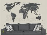 Dry Erase World Map Wall Mural World Map Wall Decal Countries Border Wall Art Sticker