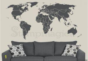 Dry Erase World Map Wall Mural World Map Wall Decal Countries Border Wall Art Sticker