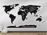 Dry Erase World Map Wall Mural World Map Wall Decal with Antarctica World Map Wall Art
