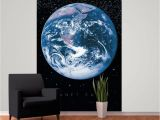 Earth From Space Wall Mural 1 Wall Planet Earth Space Globe Wallpaper Mural 1 58m X 2 32m